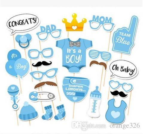 Baby Shower Decoration Its A Boy Girl Photo Booth Props Birthday