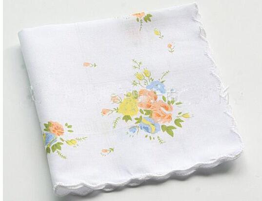Fiesta de la boda de DHL 100% algodón Pañuelo cortador señoras del pañuelo del pañuelo de la vendimia del arte floral pañuelo color al azar