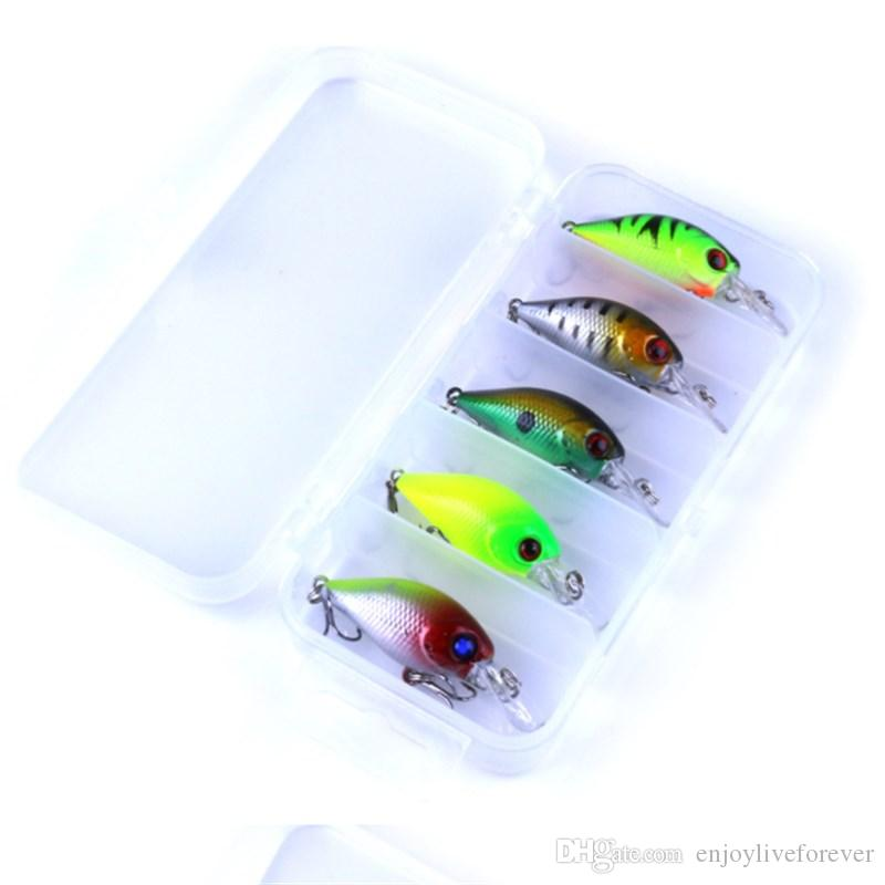 4.2g Fishing Lure Kit Minnow Floating Lure 7cm Isca Crankbait Bait Pesca Jig Fishing Hook Set with Fishing Tackle Box