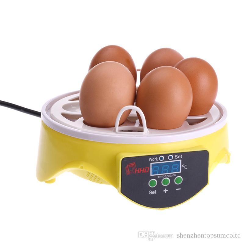7 디지털 치킨 인큐베이터 Brooder 지우기 선반 인큐베이터 해쳐 온도 제어 오리 버드 트레이 자동 배양기