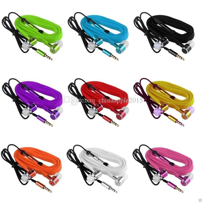Универсальный 3,5-миллиметровый металлический шнурок-вкладыш для наушников, наушники, наушники для iphone 5 6 Samsung HTC Android телефон