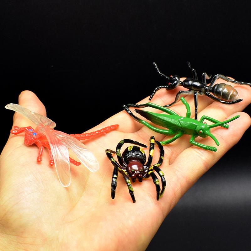 / 12 sortes PVC Simulation libellule Araignées mantis Scorpion scolopendra Insecte Modèle Jouet Collection Animale Modèles Figurines