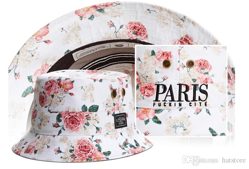 Fishing hats white cayler & sons floral rose women men bucket hats Fashion Hip hop Winter Summer fisherman hat caps buckets hat caps TYMY 8