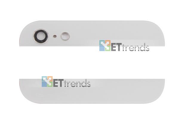 Hochwertige glasabdeckung für iphone 5 oben unten glas montage mit kamera objektiv blitz diffusor frei schiff von dhl