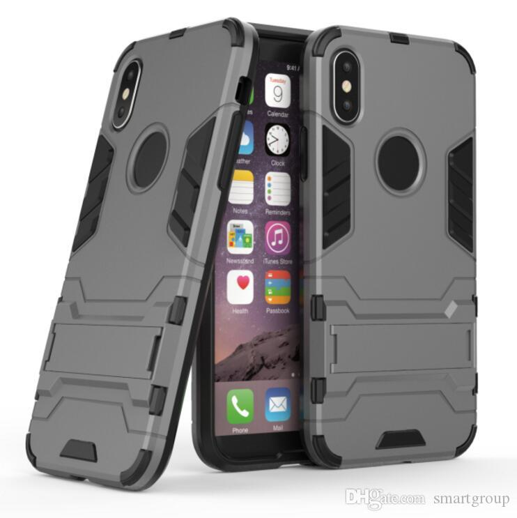 Для IPhone Яблоко Х Прочный Комбинированный Гибридный Броня Влияние Кобура Кронштейн Защитный Чехол Для IPhone Х