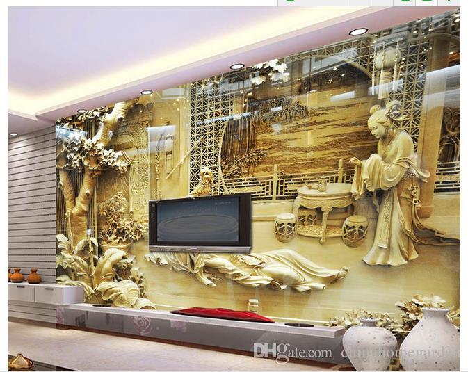High definition wood carvings large frescoes mural d