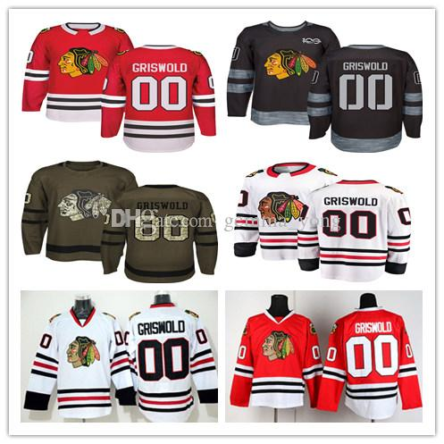 2019 2018 AD Chicago Blackhawks 00 Clark Griswold Jerseys Cheap White Red  Black 100th Anniversary Clark Griswold Hockey Jerseys Ice Stitched From  Gemma yong ... 270821093ac