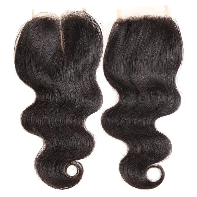 Visón 8a paquetes de cabello brasileño con cierre barato Remy cabello humano teje cierre 4x4 Top encaje para mujeres negras extensiones de cabello sin procesar