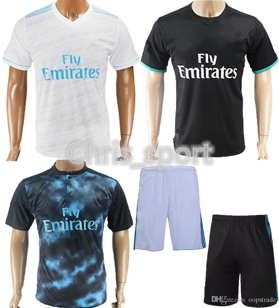 22f25af55 2019 Newest Real Madrid Home Away Shirt Game Uniform 2017 2018 Mens Thai  Quality Soccer Jerseys FC Cheap Football Set Accept Custom From Oopstrade