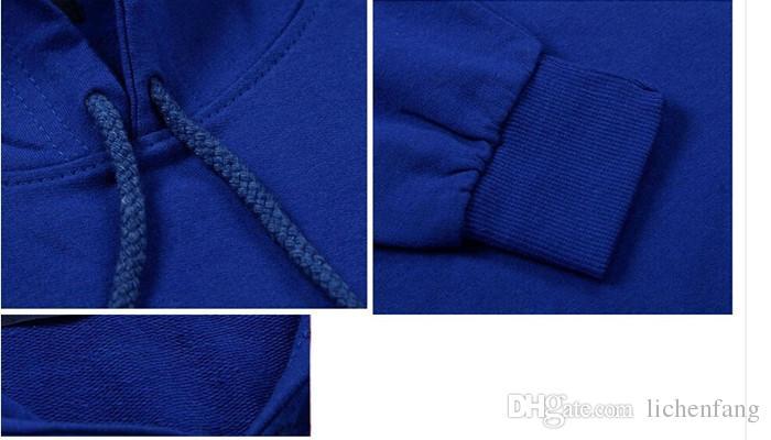 ماركة الملابس كروكس والقلاع أزياء الرجال سوياتشيرتس 2017 جديد الخريف الشتاء الدافئة هوديس الرجال الصوف فضفاضة الرجال هوديي