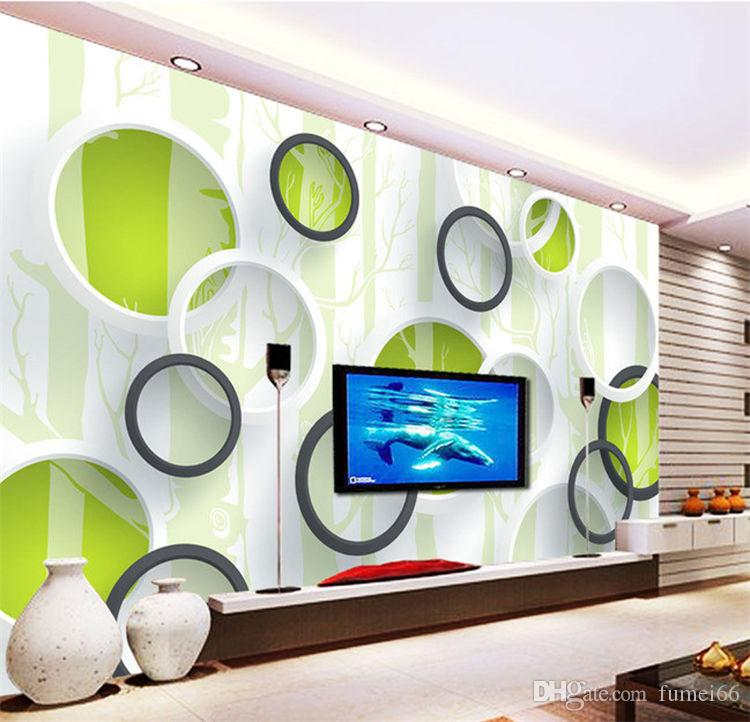 Living Room Wall Tile Designs: 3D Simple Modern TV Background Wall Ceramic Tile