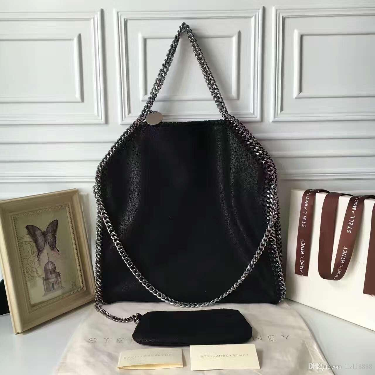 STELLA FALABELLA FOLD OVER SHAGGY DEER TOTE BAGS 3 CHAIN SHOULDER BAGS  39CM 36CM 8CM 2 BAGS Shoulder Bags Laptop Bags For Women From Lizhi8888 254536c314ec4