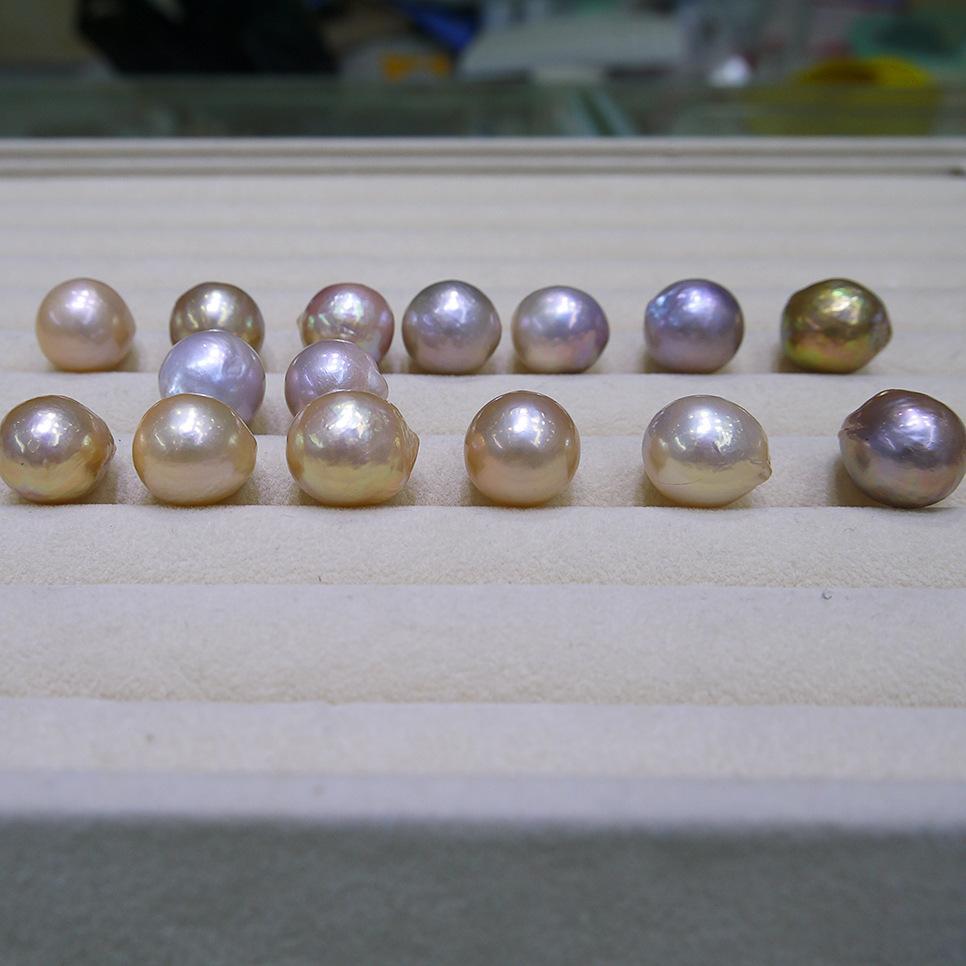 2017 neue DIY perlen Ungewöhnliche gelb lila Barock Edison Natürliche große perle 15-16mm lose perlen von perle zubehör großhandel Freies verschiffen