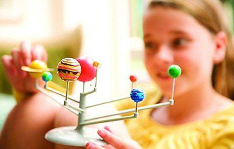 DIY النظام الشمسي تسعة كواكب القبة السماوية نموذج كيت علوم الفلك مشروع المبكرة التعليم للأطفال ييث صندوق البيع بالتجزئة