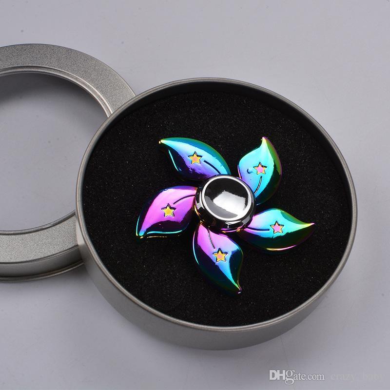 Alloy Bauhinia flower hand spinner fidget spinner toys focus EDC anxiety stress adults kid metal spinner