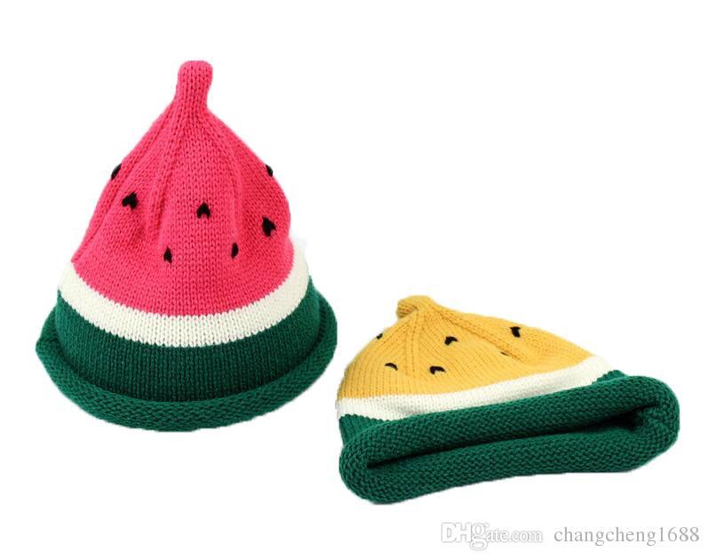 Unisex Kids Beanies Children Boys Watermelon Design Knit Hats Kid Girls Winter Warm Caps L007 Yang