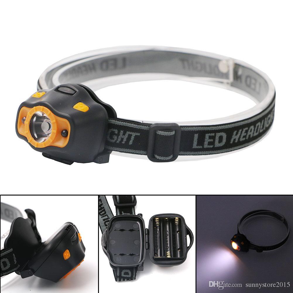 mini portable led infrared sensor headlights outdoor camping hilking