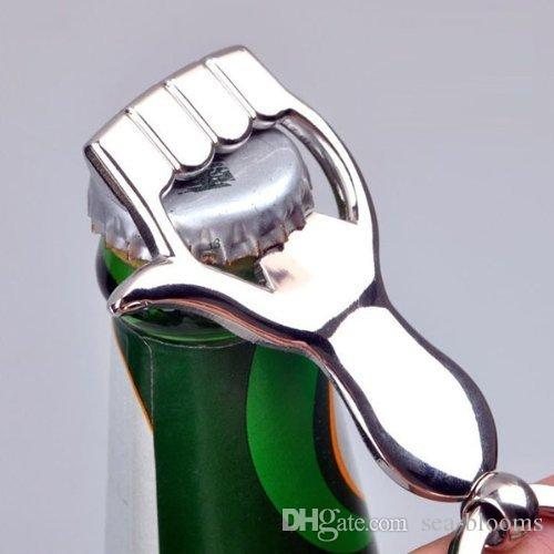 Moda Yeni Stil El Şeklindeki Şişe Açacağı Anahtarlık Anahtarlık Anahtarlık Anahtar Tutucu Anahtarlık Bira Için B103Q
