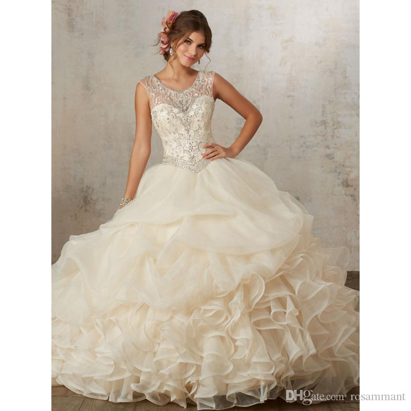Champagne color quince dresses