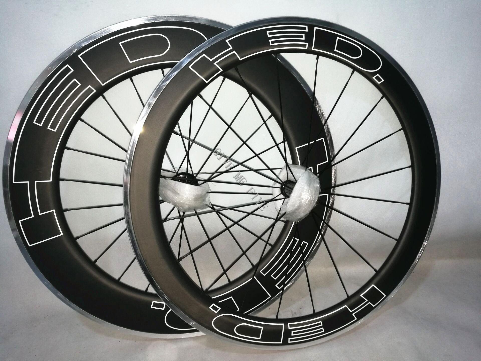 700c Full Carbon Fiber Road Wheel Set Clincher 88mm Front And Rear