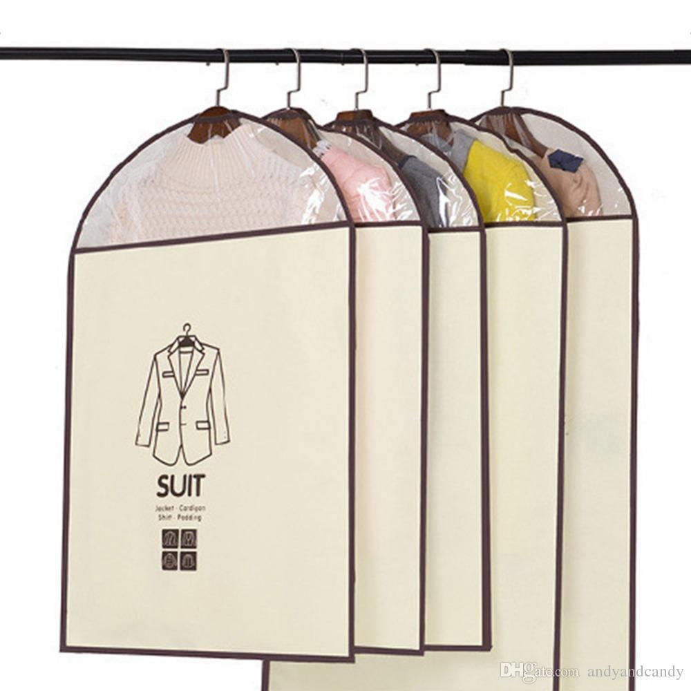 Home Dress Jacket Одежда Сумки Для Хранения Одежды Костюм Обложка Case Coat Пылезащитный Хранения Сумки Путешествия Протектор Домашнего Хозяйства Висит Организатор