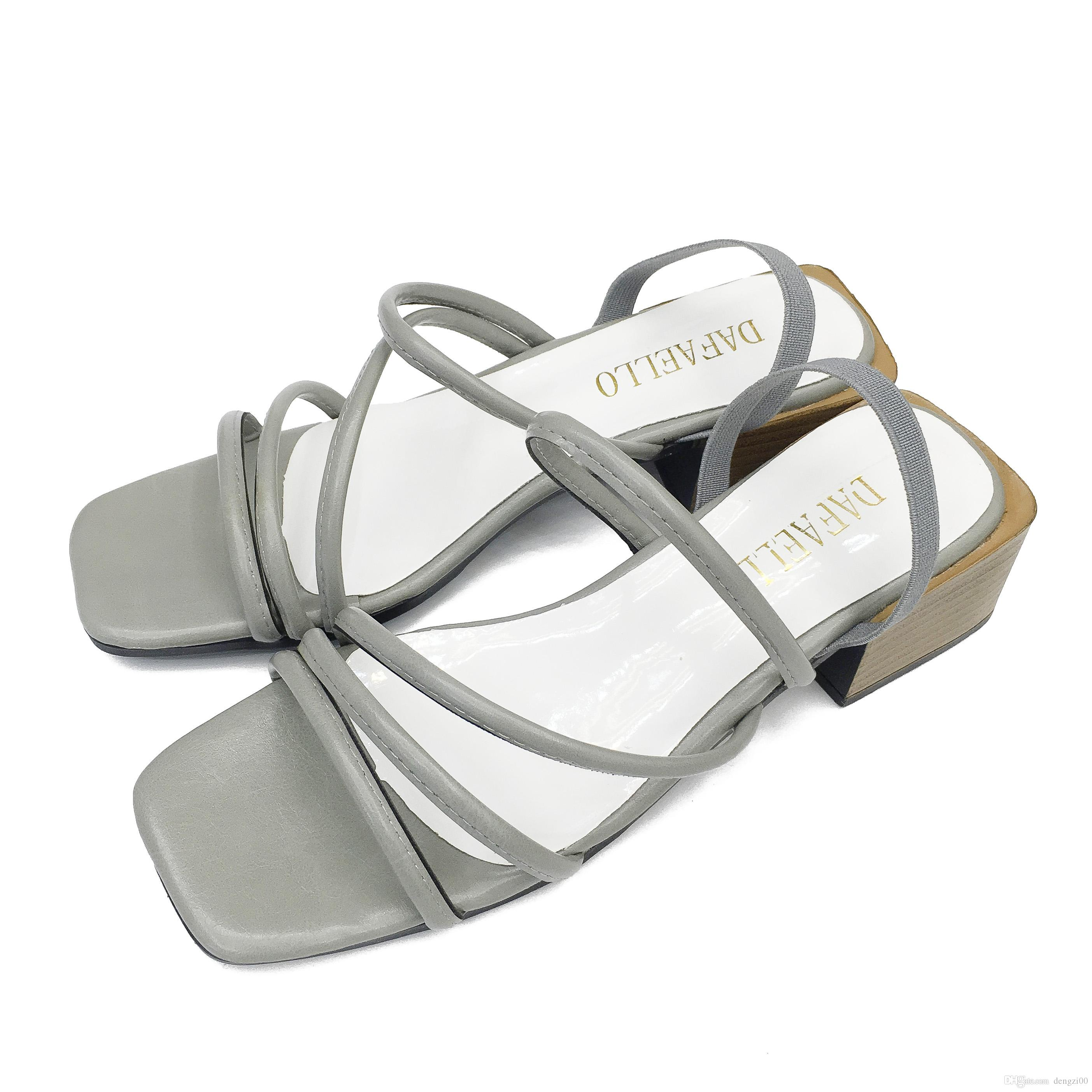 fed5fdf8a3eb 2017 New Women S Shoes Simple And Elegant Side Of The Skin Low To Help  Brown Beige Gray European Code 35 39 Saltwater Sandals Designer Shoes From  Dengzi00