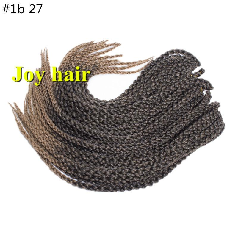 HIGH QUALITY 3D Cubic Twist Crochet Braids Blonde Color Mambo Senegalese Twist synthetic hair Hair Extensions