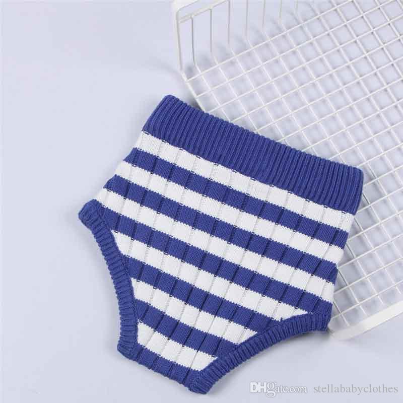 Mode Striped Baby Kleinkind Bloomer Hohe Taille Stricken Spandex Baby Mädchen Shorts Baumwolle Jungen Windel Abdeckung Neugeborenen Strickwaren Hosen
