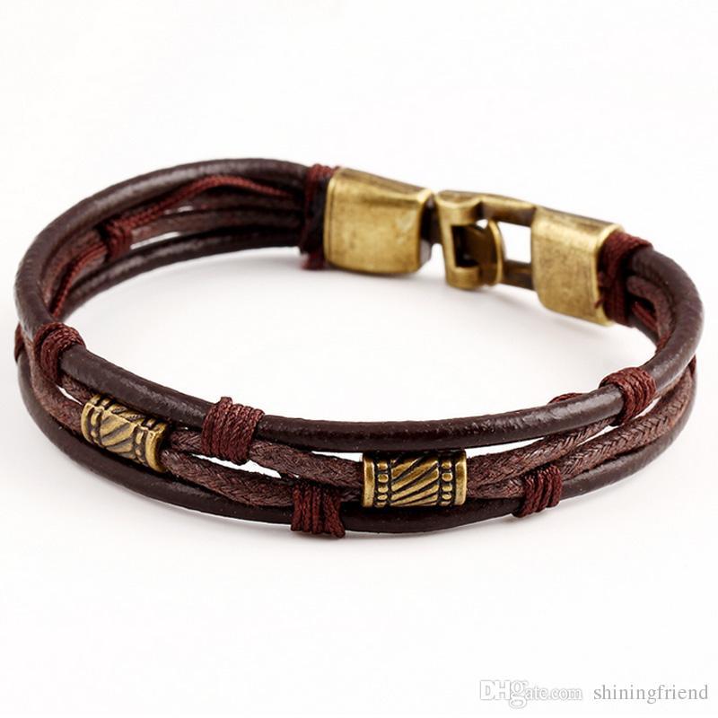 Charm Bracelets For Girls Best Friends Women Mom Uk Gram Multilayer Retro Style Men China Birthday Gift India Alloy Leathern