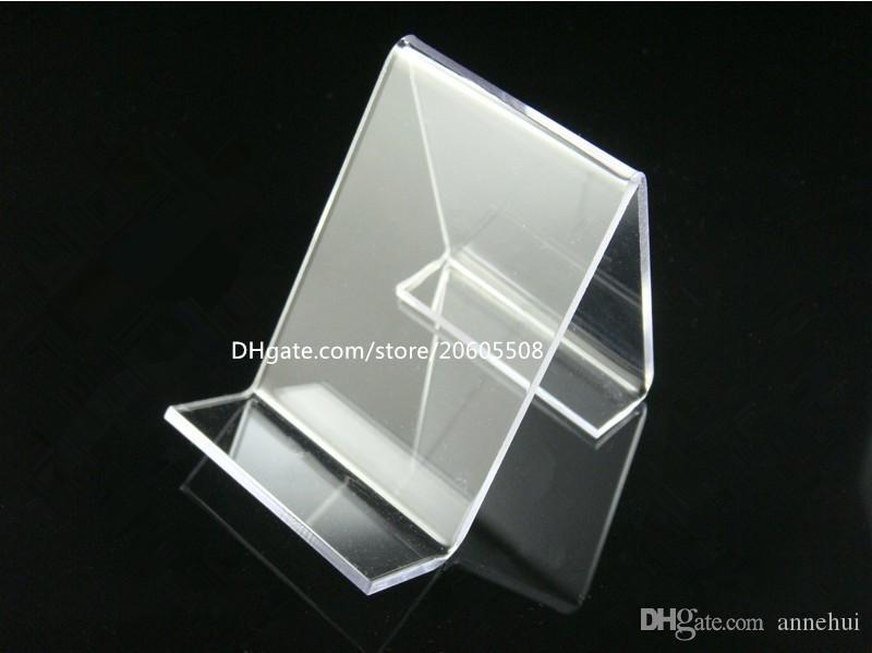 Wholesale Clear acrylic mobile cell phone display stand fashion phone Digital products holder jewelry/watch / bracelet display rack