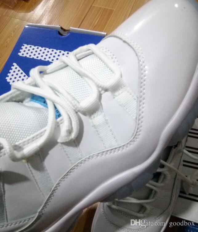 Lenda Azul Branco 11 s Branco / Legend Azul-Preto Atacado Top Quality Sapatos de Basquete Homens Com Caixa Livre shippig