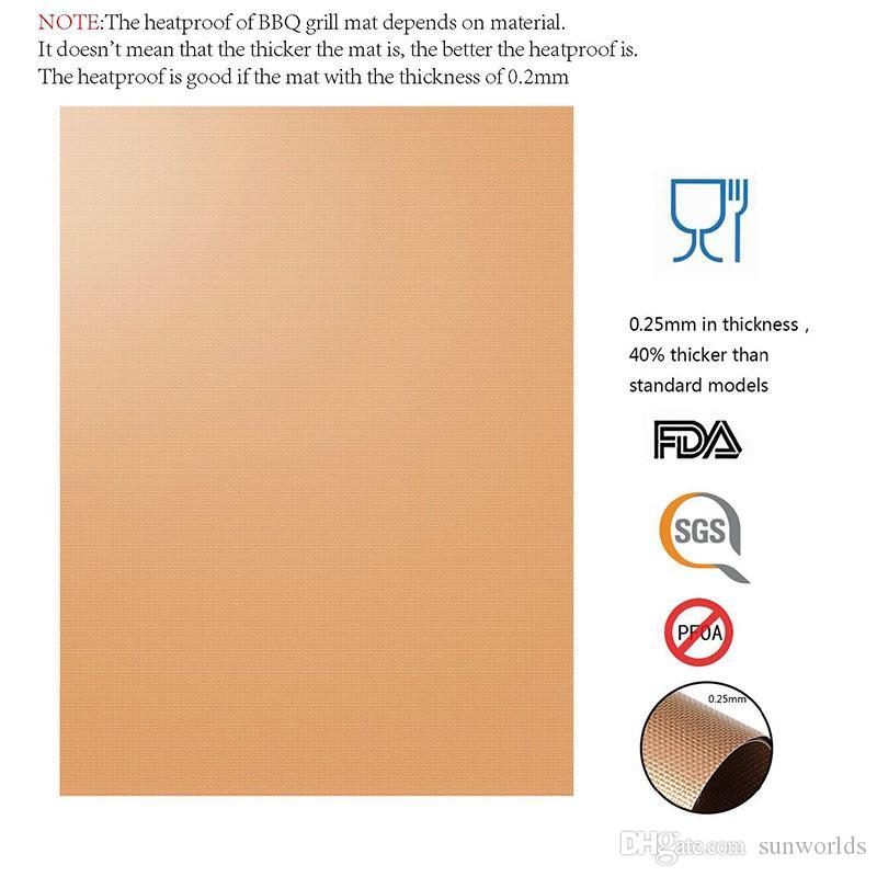 Kupfergrillmatte 100% Nicht-Stick BBQ-Grillbackmatten FDA-genehmigte PFOA-freie wiederverwendbare und leicht zu reinigende Arbeiten auf Gaskohle