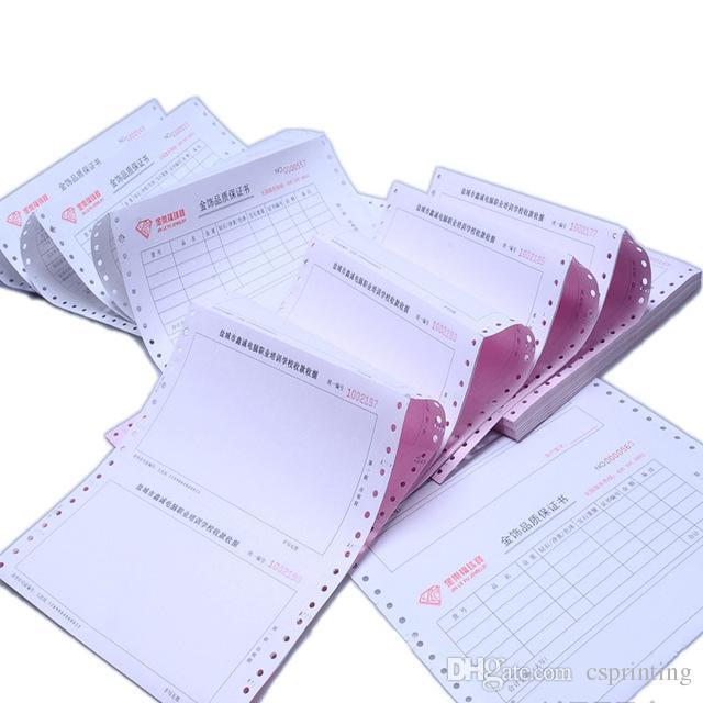 Stampa fattura NCR Fattura commerciale Duplicato triplicato stampato stampante ad aghi computerizzata