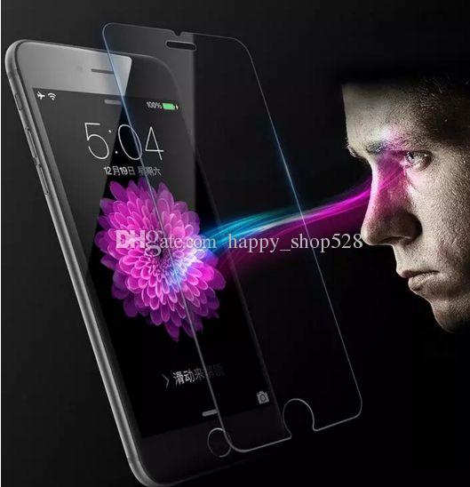 9H hardness Tempered Glass For iphone7 film Screen Protectors Anti-Scratch shatterproof Protector For iphone 7 6 6s plus with retail