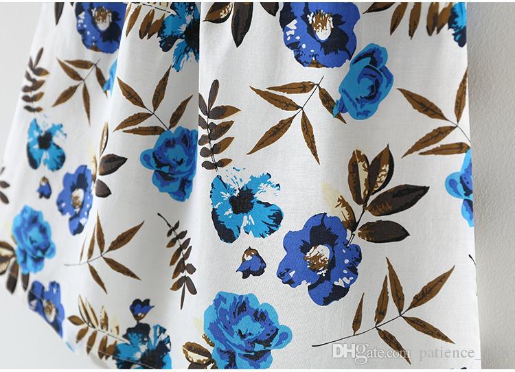 2 색 핫 판매 한국 스타일 2017 새로운 도착 소녀 여름 귀여운 스트라이프 어깨 끈 조금 플라워 프린트 슬링 드레스 무료 배송