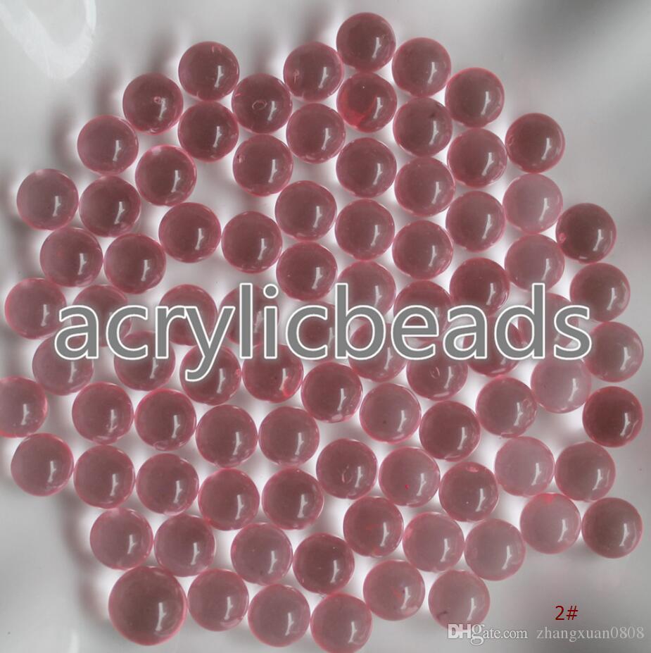 Pas cher 4mm Petites boules en plastique transparent Perles rondes acryliques sans trou pour décoration de fête de Noël 50g
