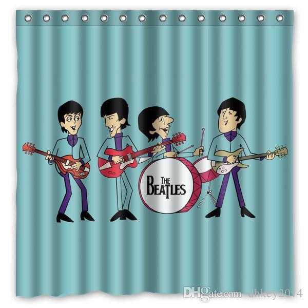2018 Custom The Beatles Cartoon Fans Printed Size 180cmx180cm 100 ...