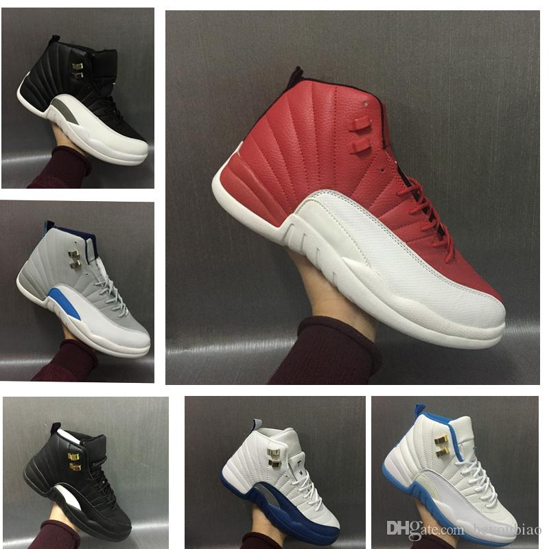 buy online 24433 39827 Gym Red 12s men basketball shoes sneakers women French Blue master GS  University Blue Wolf Grey 12 athletic tennis sports trainer