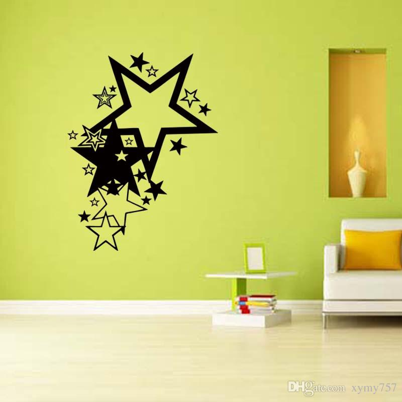 New Product For Stars Vinyl Graphics Removable Personality Funny Sticker Art Decal Bedroom Sitting Room Diy Decors