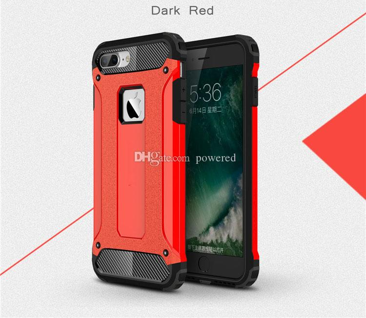 Armadura resistente magro híbrido robusto impacto pc tpu case para iphone 6 6s 7 plus samsung galaxy s6 s7 edge note5