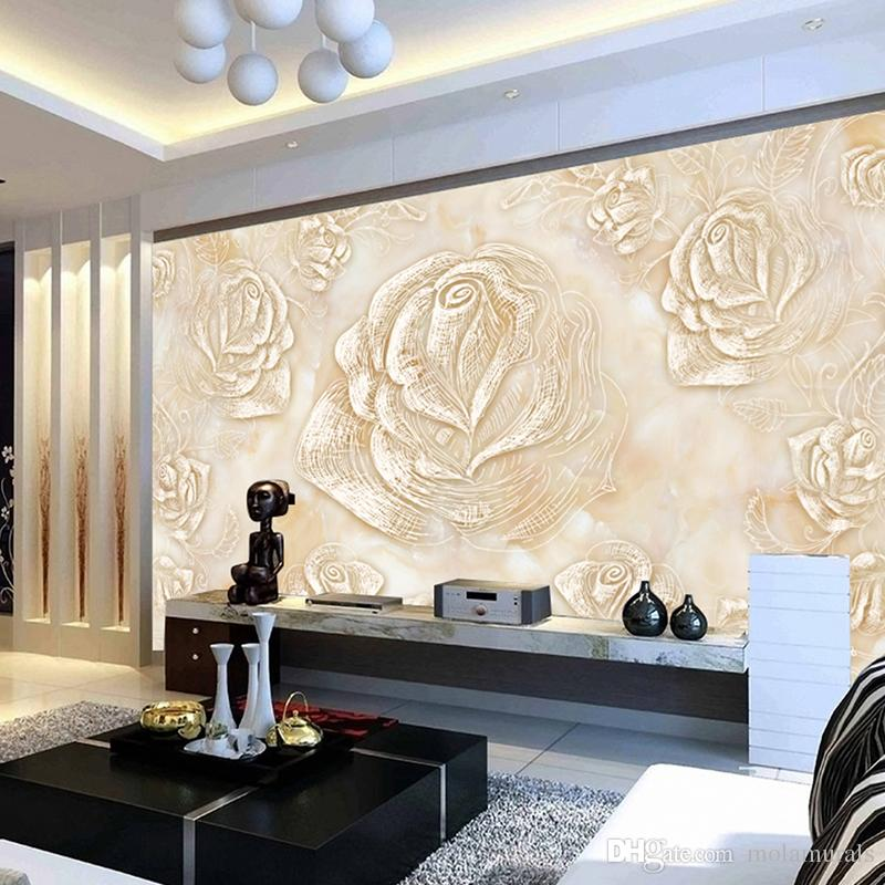 Custom Photo Wall Murals Living Room Bedroom Home Decor Wallpapers Modern  Style Mural Big Rose Flower Waterproof Wallpaper Flower Wallpaper Flower ...