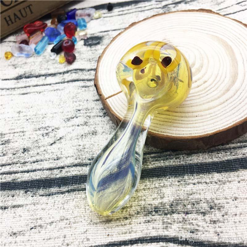 Smoking pipes 2.7 inchs length 39g glass pipes hand pipes bubblers new arrival with