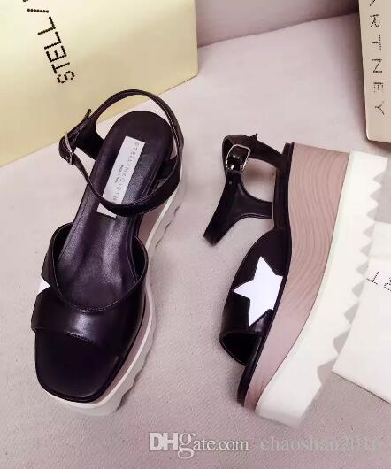 c2538a0cb18f 2017 New Wholesale Stella Mccartney Slippers Heart Shaped Arrivals Elyse  Women Sandals Shoes Wedges Platform Size 35 39 Men Sandals Heeled Sandals  From ...