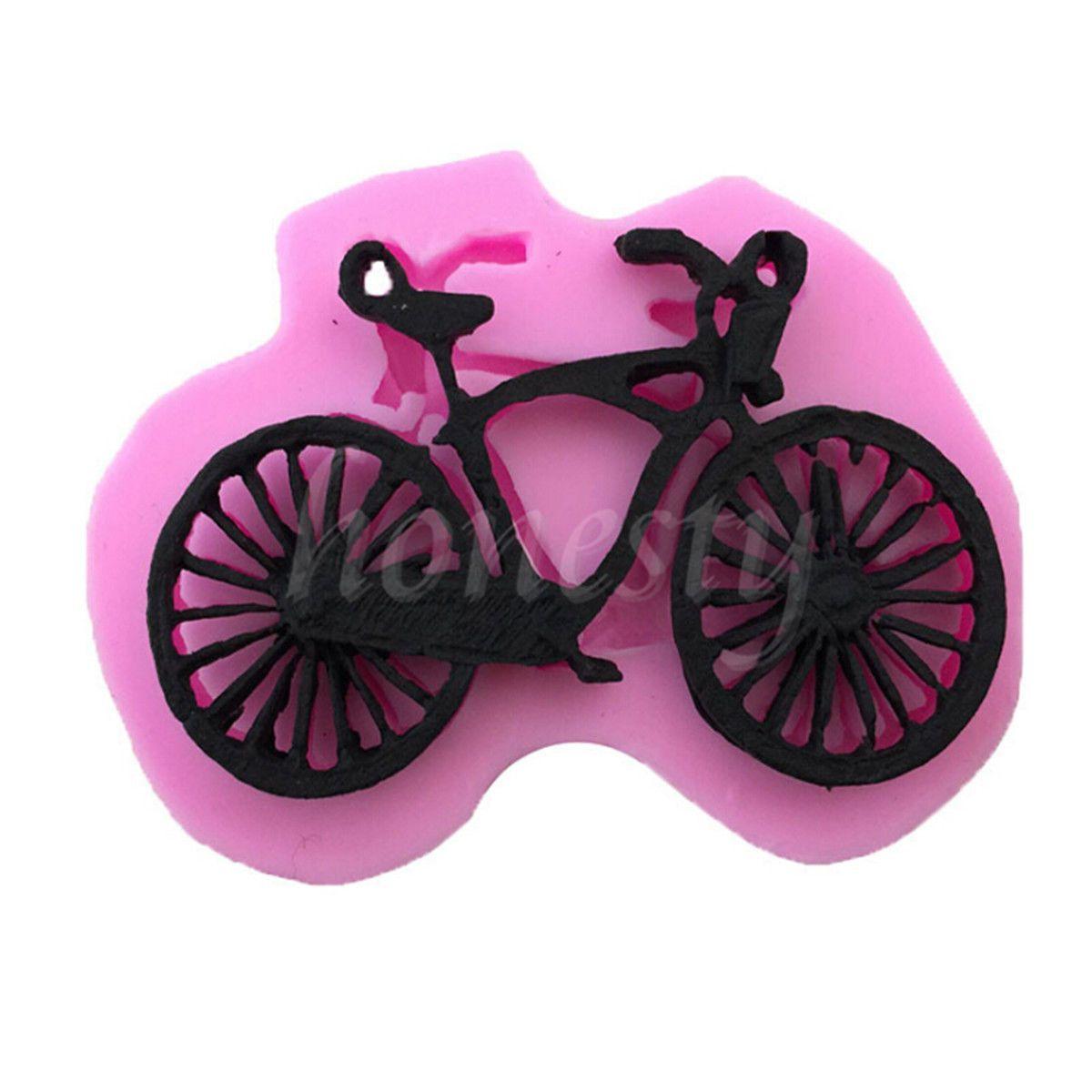 Grosshandel Silikon 3d Fahrrad Fondant Kuchen Schokoladenform Mould