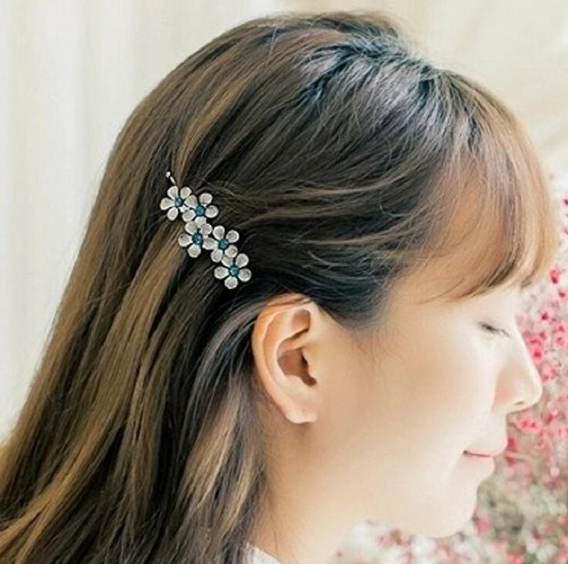 hair barrettes hairpins hairgrips clip for Women girl Hair Accessories headwear holder bun bang lovely cystal flower sweet