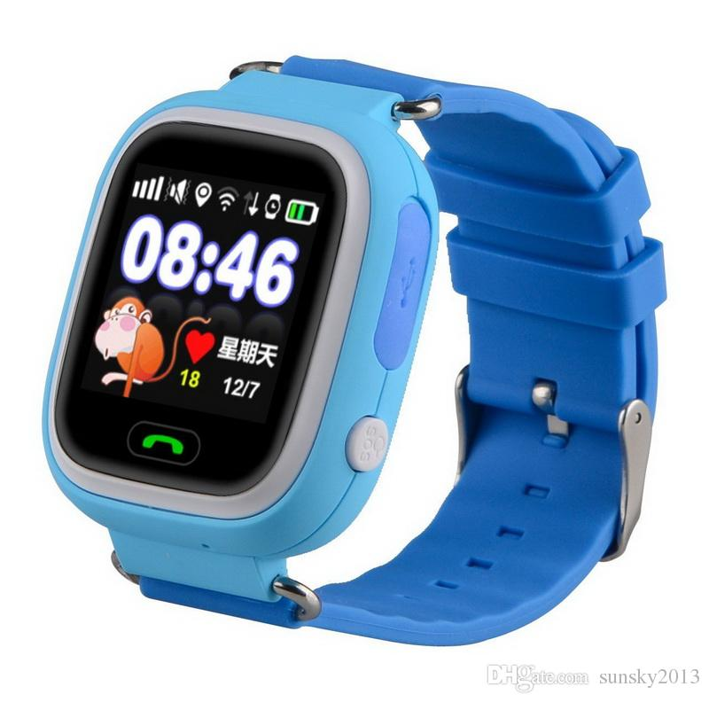 SOS Call Smart Watch for Kids Children Q90 GPS Wifi LBS Location Tracker Finder Watches Phone Touch Screen Remote Monitor Baby Wristwatch