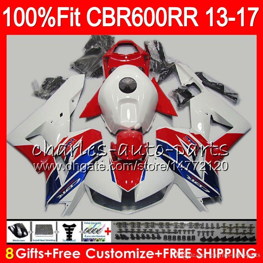 Injection Body For HONDA CBR 600 RR TOP white red CBR600RR 13 14 15 16 17 89NO13 CBR 600RR F5 CBR600 RR 2013 2014 2015 2016 2017 Fairing kit