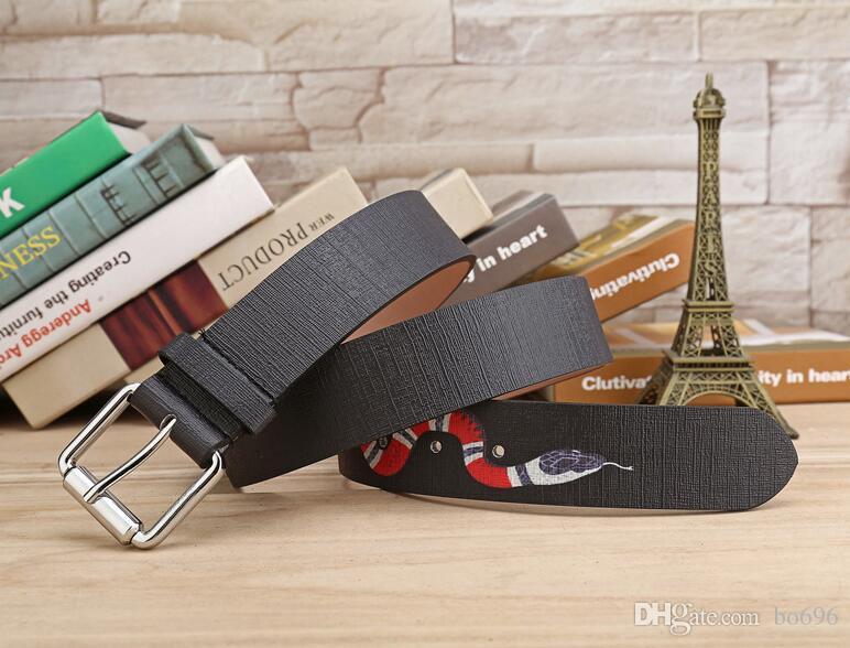 Vendita calda Nuovo colore nero Designer di alta qualità Cinture di design di moda Snake Animal Pattern Fibbia Cintura da uomo Donne Cintura Cintura Ceinture non con scatola 7z