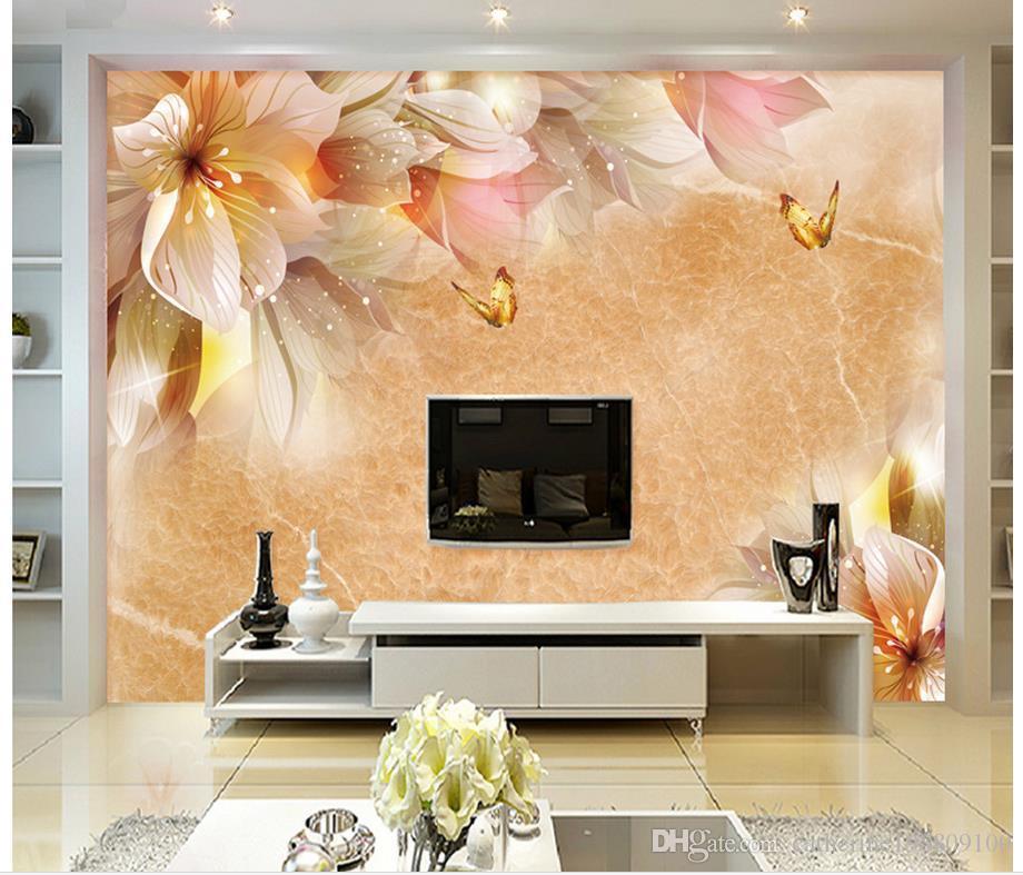 Acheter Mode Décoration Florale Fond Mur Rêve Mural 3d Papier Peint 3d  Papiers Peints Pour Toile De Fond Tv De $16.59 Du Catherine198809100    DHgate.Com
