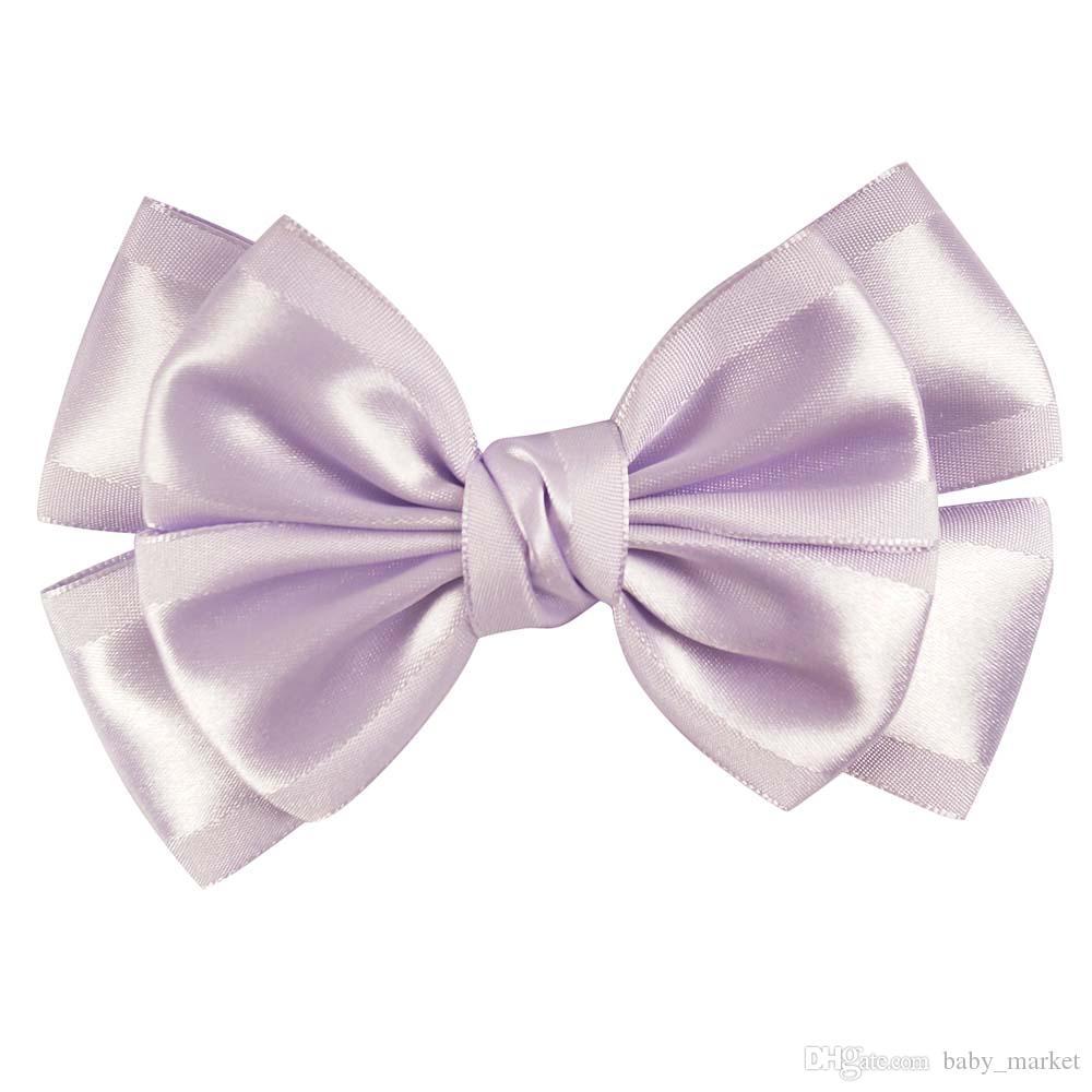 12 stücke 4style verfügbar 5 '' Candy Colors Neu Design Handgemachte Haarbogen mit Boutique Alligator Clips Haarschmuck Für süße Mädchen